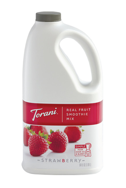 Torani Real Fruit Smoothies - 64oz Jug: Strawberry