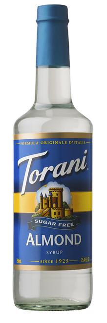 Torani Sugar Free Flavored Syrups - 750 ml Glass Bottle: Almond