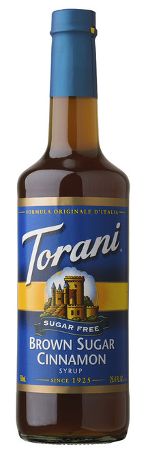 Torani Sugar Free Flavored Syrups - 750 ml Glass Bottle: Brown Sugar Cinnamon