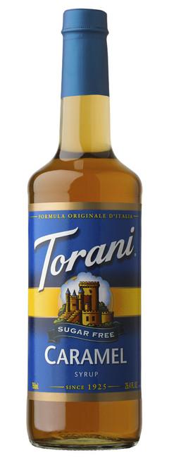 Torani Sugar Free Flavored Syrups - 750 ml Glass Bottle: Caramel