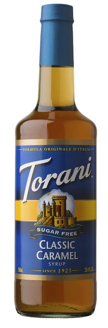 Torani Sugar Free Flavored Syrups - 750 ml Glass Bottle: Caramel Classic