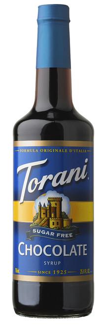 Torani Sugar Free Flavored Syrups - 750 ml Glass Bottle: Chocolate