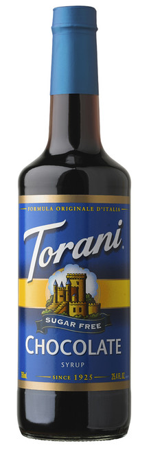 Torani Sugar Free Flavored Syrups - 750 ml Glass Bottle: Chocolate