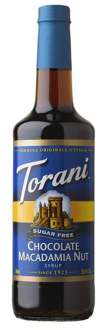 Torani Sugar Free Flavored Syrups - 750 ml Glass Bottle: Chocolate Macadamia Nut