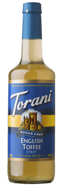 Torani Sugar Free Flavored Syrups - 750 ml Glass Bottle: English Toffee