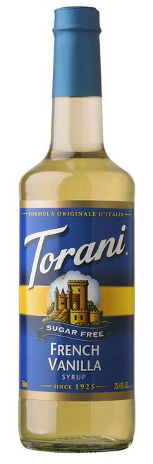 Torani Sugar Free Flavored Syrups - 750 ml Glass Bottle: French Vanilla