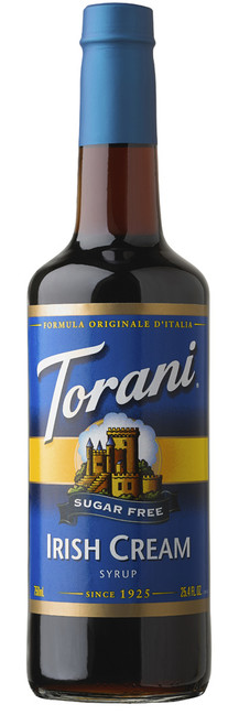 Torani Sugar Free Flavored Syrups - 750 ml Glass Bottle: Irish Cream