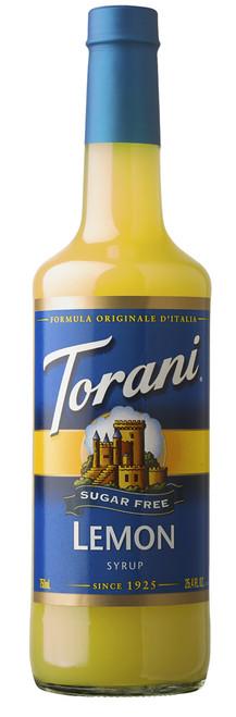 Torani Sugar Free Flavored Syrups - 750 ml Glass Bottle: Lemon