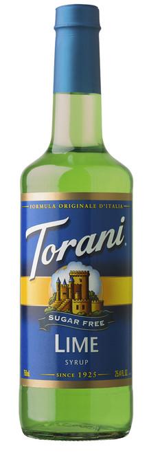 Torani Sugar Free Flavored Syrups - 750 ml Glass Bottle: Lime