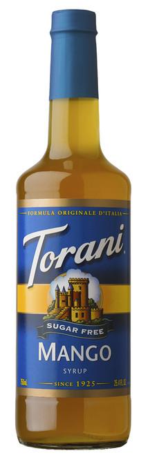 Torani Sugar Free Flavored Syrups - 750 ml Glass Bottle: Mango