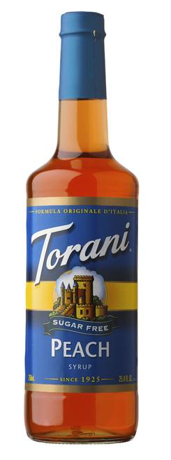 Torani Sugar Free Flavored Syrups - 750 ml Glass Bottle: Peach