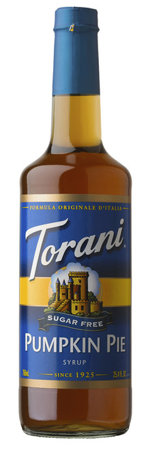 Torani Sugar Free Flavored Syrups - 750 ml Glass Bottle: Pumpkin Pie