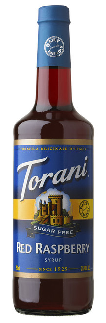 Torani Sugar Free Flavored Syrups - 750 ml Glass Bottle: Red Raspberry