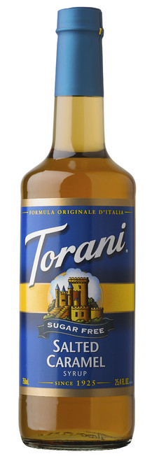 Torani Sugar Free Flavored Syrups - 750 ml Glass Bottle: Salted Caramel