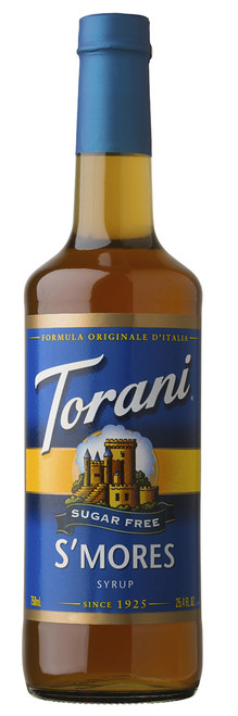 Torani Sugar Free Flavored Syrups - 750 ml Glass Bottle: S'Mores