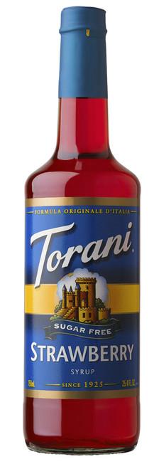 Torani Sugar Free Flavored Syrups - 750 ml Glass Bottle: Strawberry