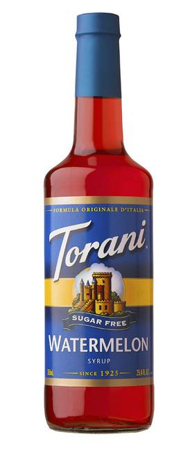 Torani Sugar Free Flavored Syrups - 750 ml Glass Bottle: Watermelon