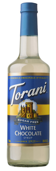 Torani Sugar Free Flavored Syrups - 750 ml Glass Bottle: White Chocolate