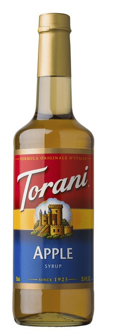 Torani Classic Flavored Syrups - 750 ml Glass Bottle: Apple