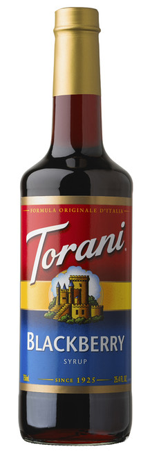 Torani Classic Flavored Syrups - 750 ml Glass Bottle: Blackberry