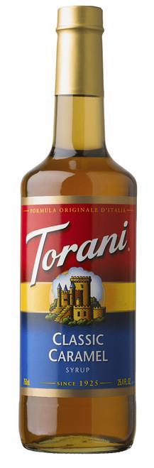 Torani Classic Flavored Syrups - 750 ml Glass Bottle: Caramel Classic