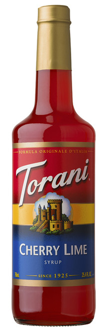 Torani Classic Flavored Syrups - 750 ml Glass Bottle: Cherry Lime