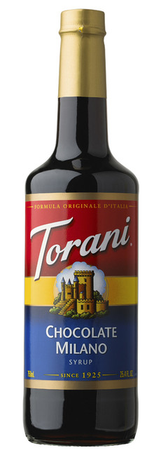 Torani Classic Flavored Syrups - 750 ml Glass Bottle: Chocolate Milano