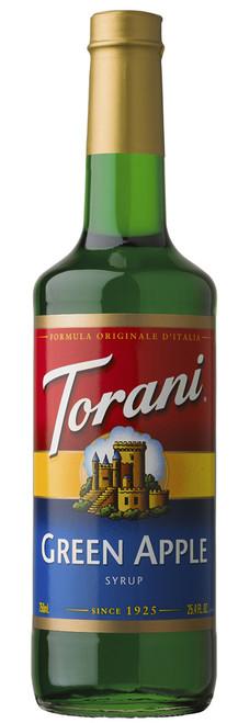 Torani Classic Flavored Syrups - 750 ml Glass Bottle: Green Apple