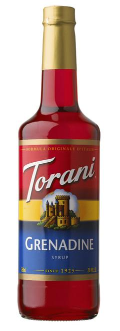 Torani Classic Flavored Syrups - 750 ml Glass Bottle: Grenadine