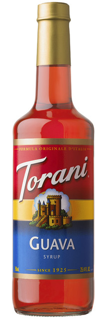 Torani Classic Flavored Syrups - 750 ml Glass Bottle: Guava