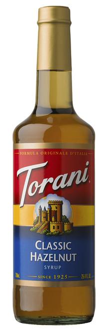 Torani Classic Flavored Syrups - 750 ml Glass Bottle: Hazelnut Classic