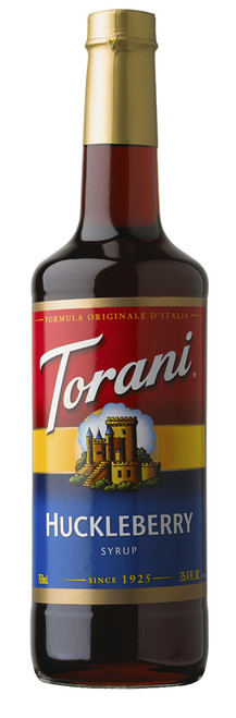Torani Classic Flavored Syrups - 750 ml Glass Bottle: Huckleberry