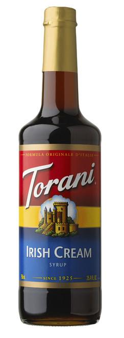 Torani Classic Flavored Syrups - 750 ml Glass Bottle: Irish Cream