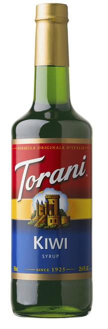 Torani Classic Flavored Syrups - 750 ml Glass Bottle: Kiwi