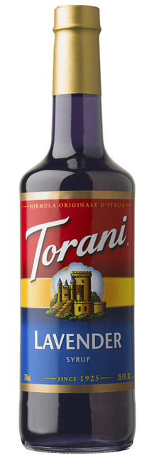 Torani Classic Flavored Syrups - 750 ml Glass Bottle: Lavender