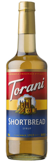 Torani Classic Flavored Syrups - 750 ml Glass Bottle: Shortbread