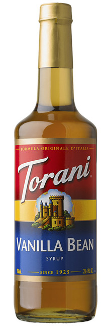 Torani Classic Flavored Syrups - 750 ml Glass Bottle: Vanilla Bean