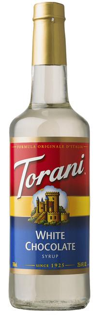 Torani Classic Flavored Syrups - 750 ml Glass Bottle: White Chocolate