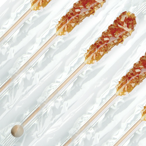 "Dryden & Palmer - Swizzle Sticks, 5.75"", Amber Pure Cane, Foodservice, Wrapped, 72qty"