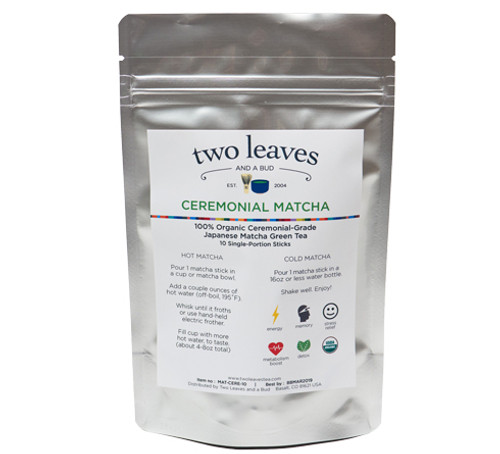 Two Leaves Tea: Ceremonial Matcha - Single Serve 10-pack