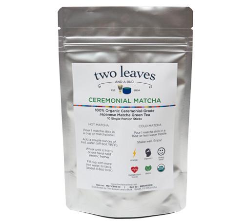 Two Leaves Tea: Ceremonial Matcha - Single Serve 10-pack