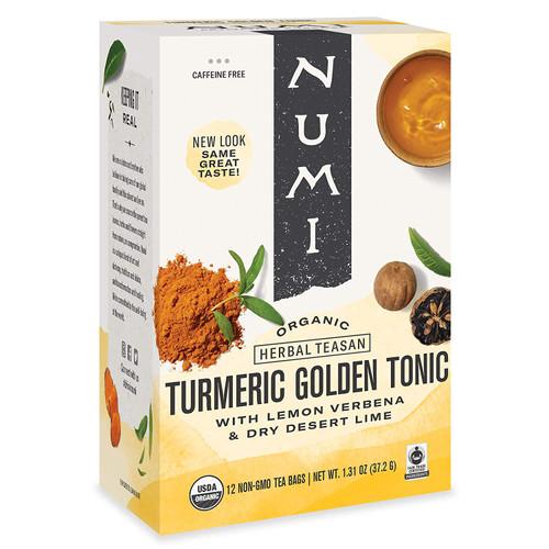 Numi Organic Turmeric Tea - Box of 12 Tea Bags: Golden Tonic