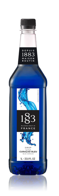 1883 Classic Flavored Syrups - 1L Plastic Bottle: Ble Curacao