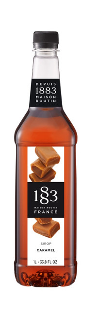 1883 Classic Flavored Syrups - 1L Plastic Bottle: Caramel