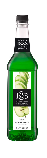 1883 Classic Flavored Syrups - 1L Plastic Bottle: Green Apple