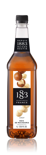 1883 Classic Flavored Syrups - 1L Plastic Bottle: Macadamia Nut
