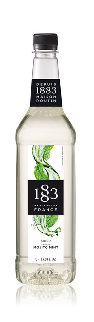 1883 Classic Flavored Syrups - 1L Plastic Bottle: Mojito Mint