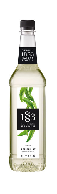 1883 Classic Flavored Syrups - 1L Plastic Bottle: Peppermint