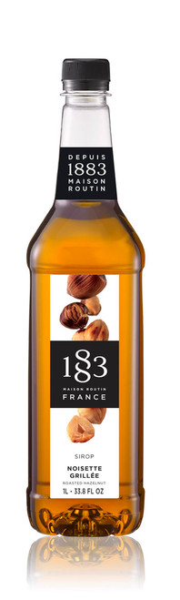 1883 Classic Flavored Syrups - 1L Plastic Bottle: Roasted Hazelnut