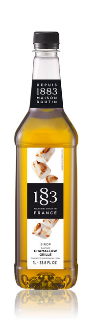 1883 Classic Flavored Syrups - 1L Plastic Bottle: Toasted Marshmallow